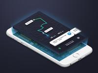 Trip Guide App - Isometric