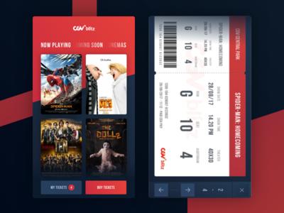 CGV Blitz - Redesign App Concept app application cgv blitz cinema movie ios mobile film ticket