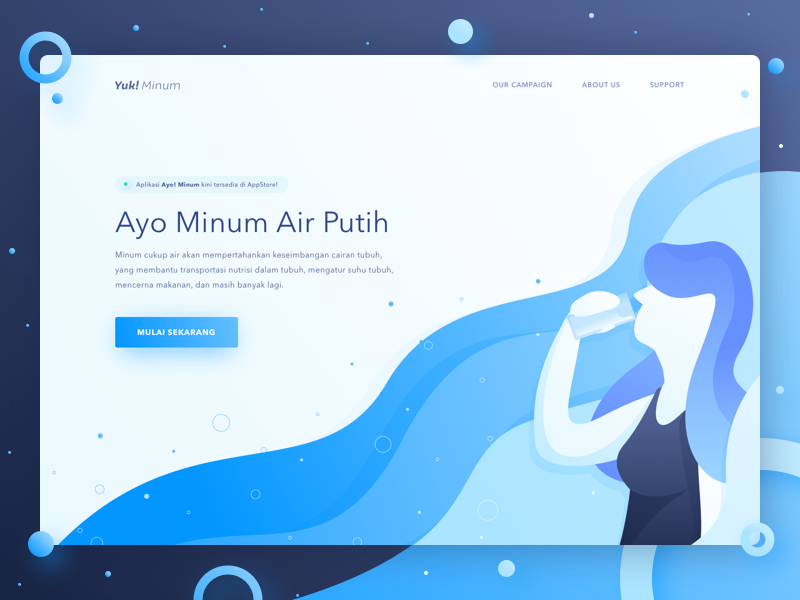 Drink Water Reminder - Landing Page