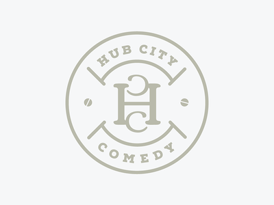 Hub City Comedy logo circle