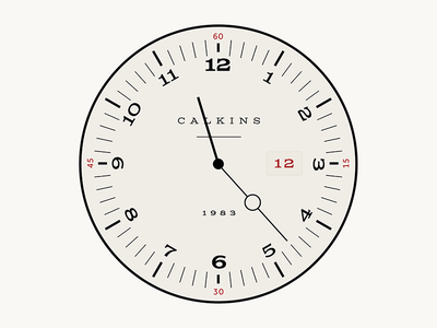 Watch Face typography round circle watch