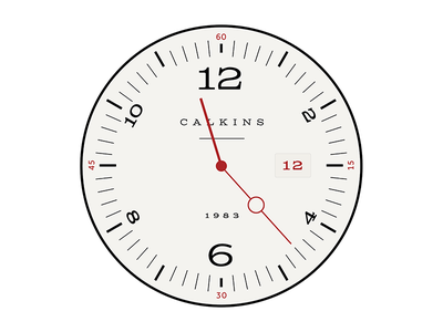 Watch Face - Alt typography circle round watch