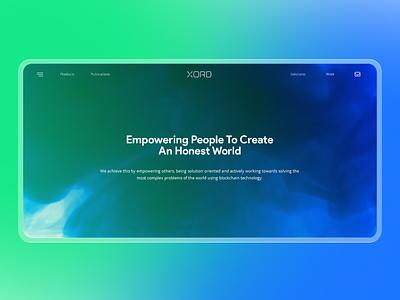 XORD-Blockchain Research and Development Company Website Design crypto uidesign uiux appdesign websitedesign research cryptocurrency blockchain design