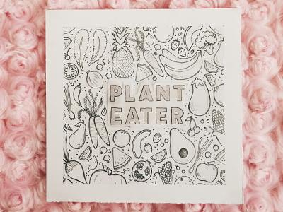 Plant Eater: Sketch sketch fruits vegetables vegetarian vegan