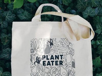Plant Eater: Tote Bag product design tote bag illustration fruits vegetables vegetarian vegan