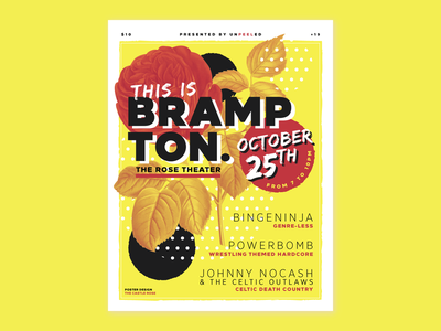 This Is Brampton layout design graphic design typography florals live music show concert poster design