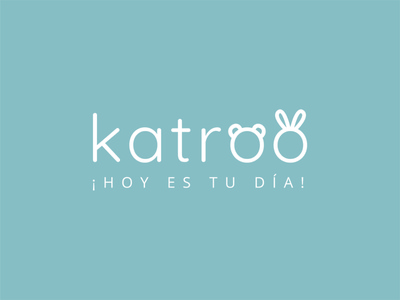 Katroo logotype illustrator children baby shop baby vector typography logo design branding
