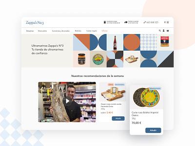 Zappa's nº3 Homepage web design cheese oil wine drink grocery food ecommerce homepage home web design ui ux