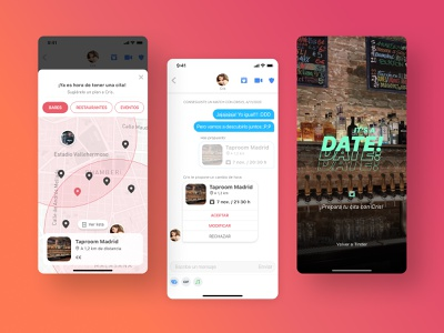 TinderDate: a new feature for Tinder tinder love map date figma ux ui app