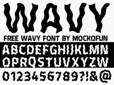 MockoFun Wavy Font Free Download water wavy letters lettering freebie font design font