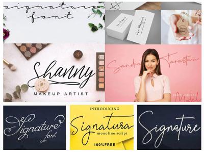 Free Signature Fonts freebies free fonts collection fonts signature logo signature fonts