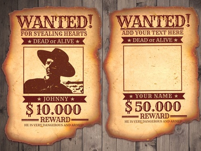 Wanted Poster Template wall art mockofun wild west western wanted poster design poster