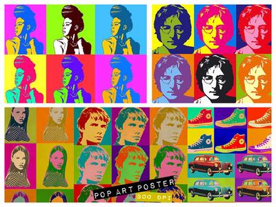 Pop Art Effect in Photoshop photoshop action photoshop pop culture lichtenstein warhol pop art portrait pop art