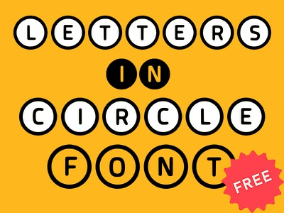 Letters in Circle Font letters freebies freebie font design font circled font circle letters circle font