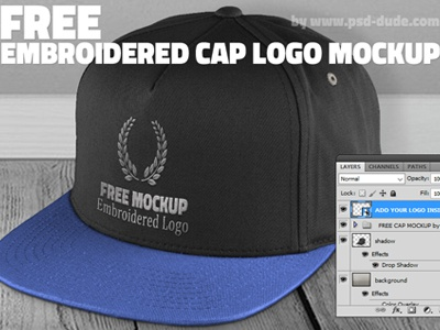 Free Cap Mockup Psd With Embroidered Logo By Psddude Dribbble