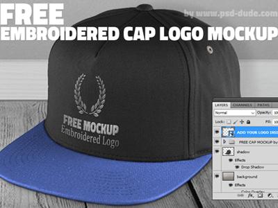Free Cap Mockup Psd with Embroidered Logo free hat mockup free cap psd free cap mockup embroidered cap mockup baseball cap mockup baseball cap psd cap mockup cap psd