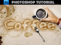 Coffee Stains Text Photoshop Tutorial
