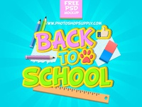 Back To School PSD Free