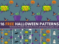 16 Halloween Patterns PhotoshopSupply Freebie