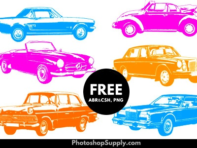 Car Shapes   FREE (Vector, Brushes & PNG)