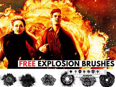 Free Explosion Brushes comic book exploding photoshop brushes fire explosion