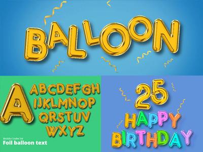 Online Balloon Text Effect