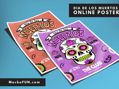 Sugar Skull Poster flyer poster day of the dead dia de los muertos sugarskull