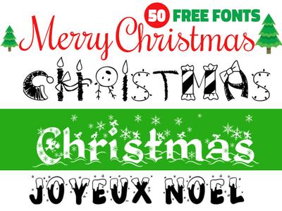 50 Free Christmas Fonts free freebie fonts collection fonts christmas font christmas card christmas