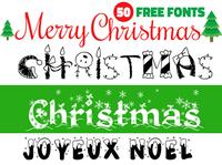 50 Free Christmas Fonts