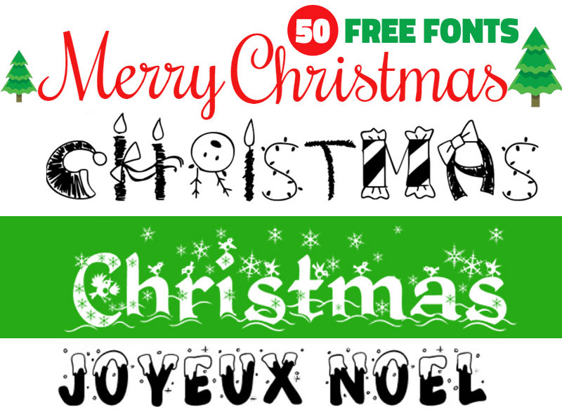 Christmas Fonts by PsdDude 🕸 on Dribbble