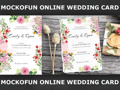 Online Wedding Card wedding invitation wedding invite wedding card