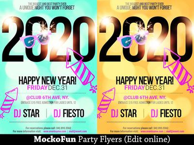 Happy New Year Party Flyer mockofun online party flyer new years eve happy new year