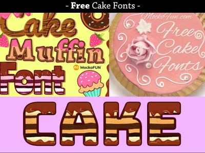 25 Free Cake Fonts for Commercial Use cake logo cake font design fonts