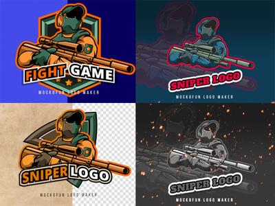 Esports Sniper Logo Online logo design logo sniper esportlogo esports
