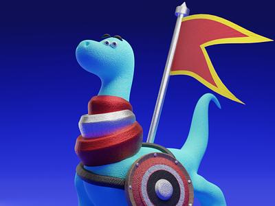 BLUE RAPTOR THE WARLORD illustration ui 3 logo motion graphics motion design animation 3dmodel 3dart 3d