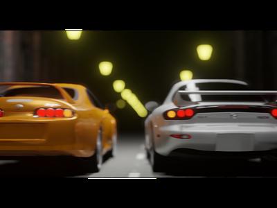Tokyo Drift ui logo illustration motion graphics motion design animation 3dmodel 3dart 3d