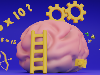 Memory ! logo ui illustration motion graphics motion design animation 3dmodel 3dart 3d