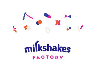 Milkshakes pattern branding identity key visual sweets milkshake logotype logo