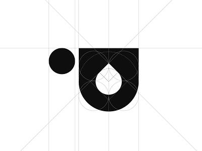 Black ☕️ logo logogrid grid logomark black coffee logo
