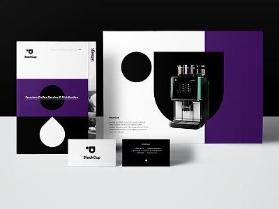 Black ☕️ part of id key visual service cup drop purple key visual identity id coffee black logo