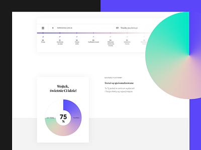 Online course platform – sneak peak #1 diagram landing lp platform course web gradient minimal ui graphic design