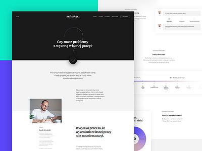 Online course platform – full typography web ux course platform webdesign ui
