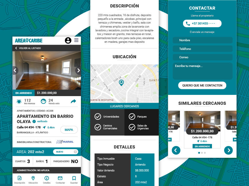 áreacaribe Property By Oliver Hoselvis On Dribbble