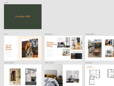 Camber Mill minimal flat typography design