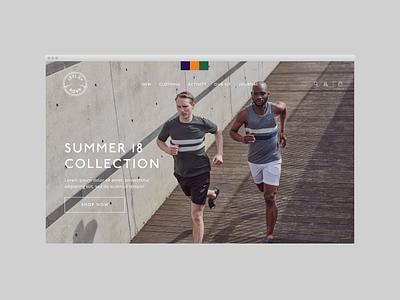 Runwear Retailer Concept web ux design minimal store retail fashion