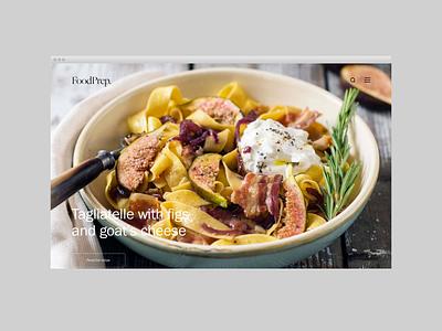 Foodprep Concept concept typography ui web minimal design