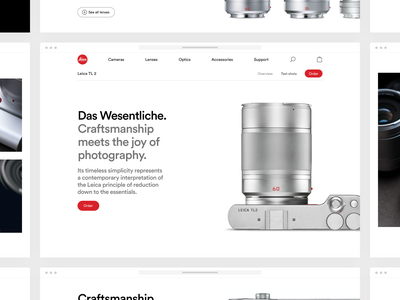 Leica product page simple white clean minimal webshop redesign ux ui product leica