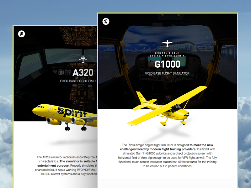 Airplane simulator data pages by Zsolt Stelkovics | Dribbble | Dribbble