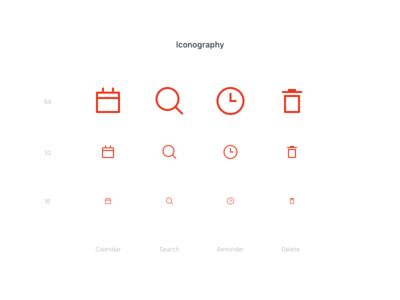 Wunderlist redesign - Iconography