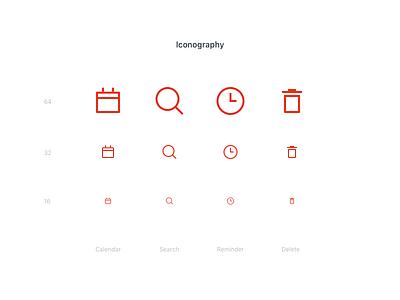 Wunderlist redesign - Iconography icons clean red ux ui minimal redesign wunderlist